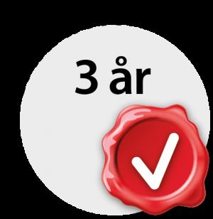 Garanti 3 år Pro 50 plus