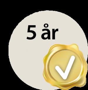 Garanti 5 år S6 - S6B - S6W - S6BW